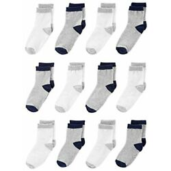 Kyпить Simple Joys by Carter's Baby Boys' Toddler 12-Pack Sock, Gray, White, Size 2T/3T на еВаy.соm