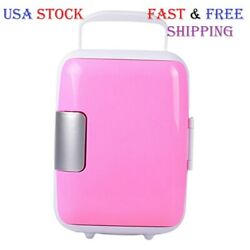 Kyпить Mini Fridge Portable 12V 4 Liters Mini Refrigerator Cooler and Warmer Pink на еВаy.соm