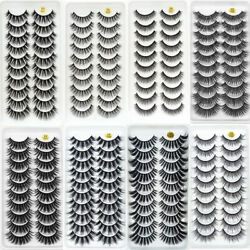 Kyпить 10 Pairs 3D Mink lashes False Eyelashes Natural/Thick Long 20mm Eye Lashes Wispy на еВаy.соm