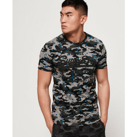 img-Superdry Mens Premium Goods All Over Print Camo Splat T-Shirt
