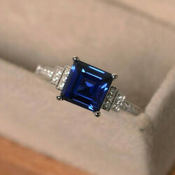 Kyпить Fashion 925 Silver Rings Women Jewelry Blue Sapphire Wedding Ring Size 6-10 на еВаy.соm