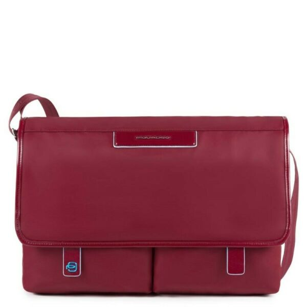 ItalieMan  Piquadro Celion CA3172CE/R red fabric business laptop briefcase