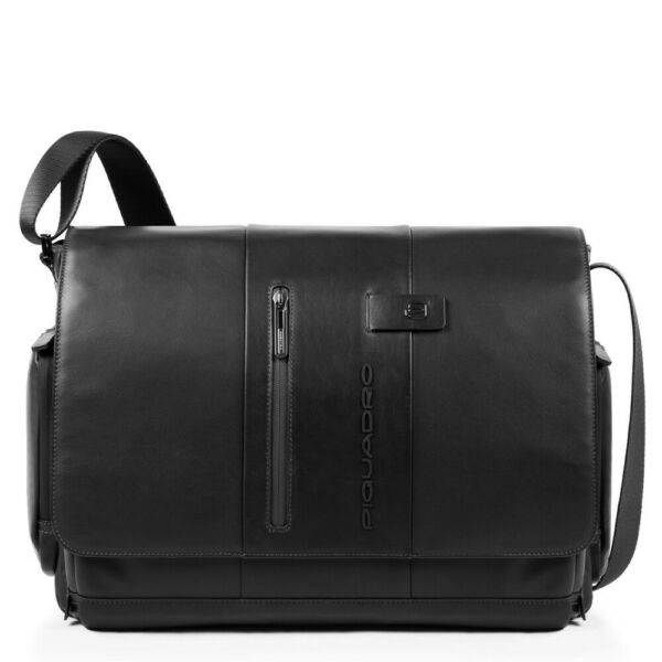ItalieMan  Piquadro Urban CA1592UB00/N black leather briefcase business bag