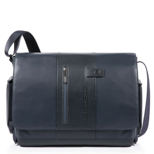 ItalieMan  Piquadro Urban CA1592UB00/BLU blue leather briefcase business bag