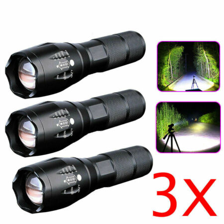 img-Police 90000LM T6 LED Super Bright Zoom Flashlight Powerful Camping Lamp Torches