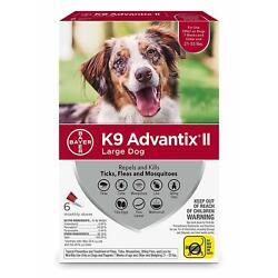 Kyпить K9 Advantix II for Large Dogs 21-55 lbs - 6 Pack - NEW на еВаy.соm