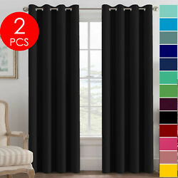 Kyпить Set of 2 Grommet Thermal Insulated Blackout Curtains for Living Room or Bedroom на еВаy.соm