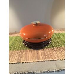 Kyпить Antique Chinese Orange Glazed Serving Dish With Lid & Compartments на еВаy.соm