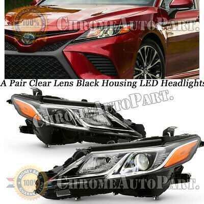 Pair Fit 2018 2019 Toyota Camry L LE SE LED Projector Headlights Headlamps