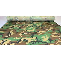 Woodlands Ny/Co Ripstop Fabric 66''W Camo Fabric Camouflage Military Mil Spec