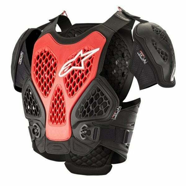 Royaume-UniAlpinestars Adultes Bionique Motocross MX  Protection - Noir/Rouge
