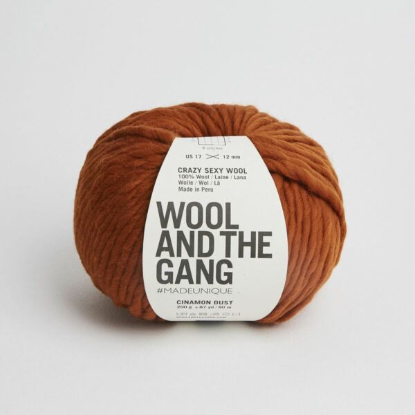 Royaume-UniWATG Wool And The Gang Fou Sexy Laine 200g 80m 79.6m - Cannelle Poussière