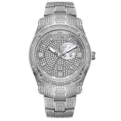 Kyпить $1325 Jbw Jet Setter Gmt Quartz Diamond Silver Dial Men's Watch J6370B на еВаy.соm