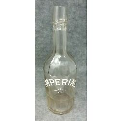 Kyпить Early IMPERIAL White Enamel Painted Back Bar Decanter Whiskey Bottle  на еВаy.соm