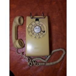 Kyпить Western Electric 554 Rotary Dial Yellow Wall Phone - Works! Video in Desription  на еВаy.соm