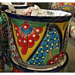 Kyпить TALAVERA MEXICAN POTTERY - CURVED SET OF 3 PLANTERS      *FREE FREIGHT* на еВаy.соm