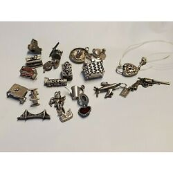 Kyпить Choice of Vintage Sterling Silver Charm or Pendant most made in USA articulated на еВаy.соm