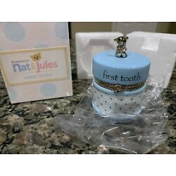 Kyпить Nat and Jules First Tooth Keepsake Blue Box NIP на еВаy.соm