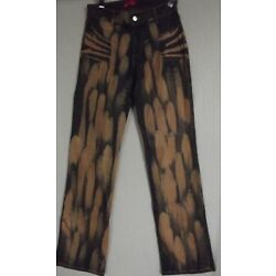 Apple Bottoms Size 2 or 8 Bleached Coated Jeans stretch bottom