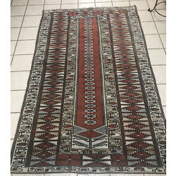 Kyпить Bokhara Rug Vintage 4 x 6 Rust, Blue and Black High KPSI Floppy Excellent Condit на еВаy.соm