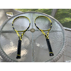 Kyпить 2 Babolat Pure Aero 4 1/4 10.6oz Slightly Used на еВаy.соm