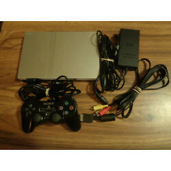 Kyпить Sony PlayStation 2 Slim Silver Console SCPH-79001 Complete System на еВаy.соm