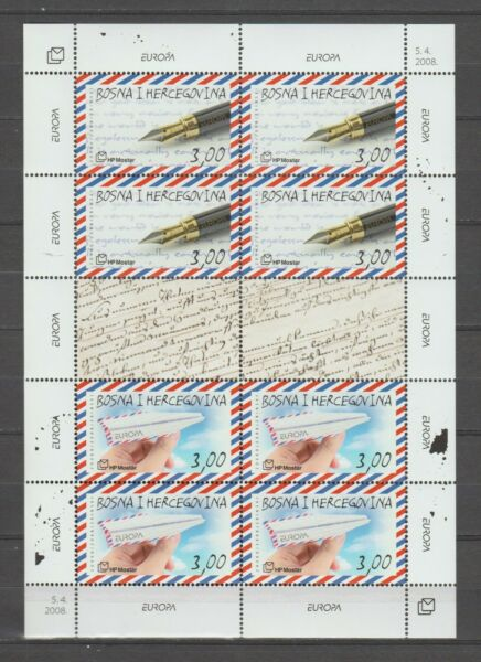 Italiens36920 BOSNIA CROATIC ADMIN. EUROPA CEPT MNH** 2008 MS THE LETTER