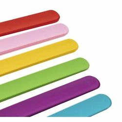 24-Pack Soft Silicone Slap Bracelets for Kids Party, 4 of Each 6 Color, 8.5 x 1