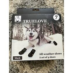 Truelove Dog Shoes Waterproof All Weather Reflective 4pc - Size 7 & FREE SHIPPIN
