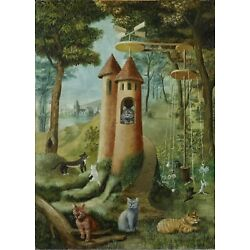 REMEDIOS VARO Art Poster or Canvas Print ''Cat's Paradise'' Cats Playing
