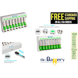 Kyпить Mr.Batt Battery charger + 8 Rechargeable Batteries NiMH AAA or AA USB BRAND NEW на еВаy.соm