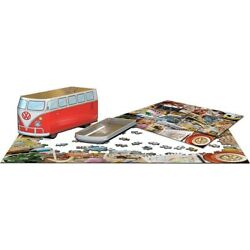 Kyпить Eurographics 550 Piece Jigsaw Puzzle - VW Road Trips In Collectible Tin на еВаy.соm