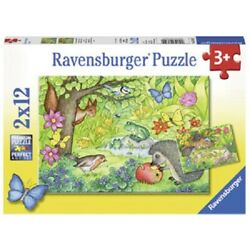 Kyпить Ravensburger 2 x 12 Piece Jigsaw Puzzles - Garden Visitors на еВаy.соm