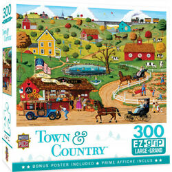 Kyпить Masterpieces 300 Piece Large Format Puzzle - Town & Country Share In The Harvest на еВаy.соm
