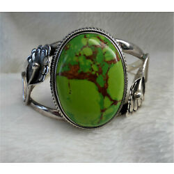 Kyпить Mojave Lime Green Turquoise Sterling Silver Cuff Bracelet на еВаy.соm