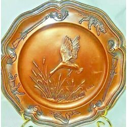 Kyпить Albert Gilles Embossed Copper Plate Goose Hunting Rifle Arts & Crafts French  на еВаy.соm