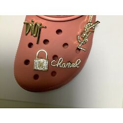 Kyпить Gift for her! 4 pc Premium Shoe charms Compatible W/ Crocs Fancy Bling Jewelry B на еВаy.соm