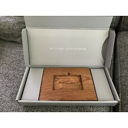 Kyпить American Express Platinum Wooden Block Welcome Case на еВаy.соm