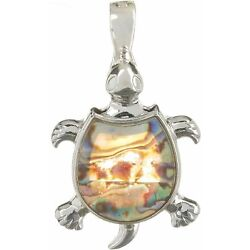 Kyпить Wearable Art By Roman Abalone Turtle Pendant One Size Silver tone на еВаy.соm