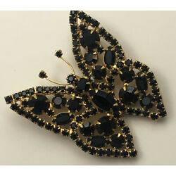 Kyпить Vintage  large Butterfly Brooch pin in gold tone Metal на еВаy.соm