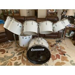 Kyпить Ludwig 1976 10 pc. Set White Cortex Pointy B/O single 24
