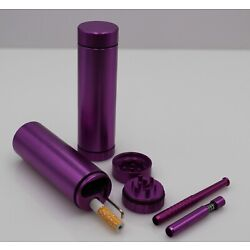 Kyпить DUGOUT COMBO OUTDOOR KIT -PURPLE- w/Grinder & 3 Tobacco One Hitter Pipes на еВаy.соm