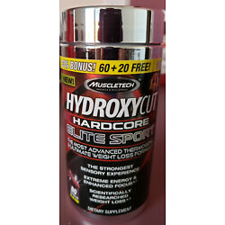 Kyпить Hydroxycut Hardcore Elite Sport BONUS SIZE (80 Capsules) Advanced Weight Loss на еВаy.соm