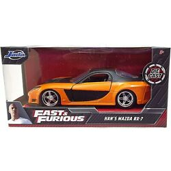 Fast And Furious Han's Mazda RX-7, JADA, Diecast Toy Car, 5