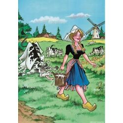 Puzzelman 1000 Piece Jigsaw Puzzle - The Milkmaid Grin & Bare It