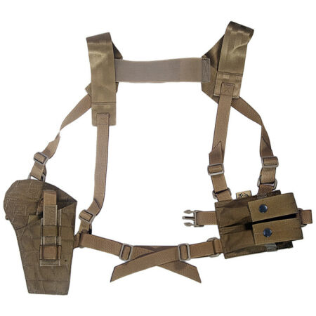 img-Flyye Industries Shoulder Holster MOLLE System Panel Airsoft Army Coyote Brown
