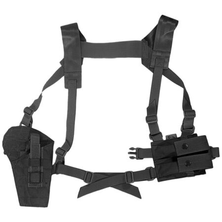 img-Flyye Tactical Shoulder Holster MOLLE System Panel Airsoft Security Police Black