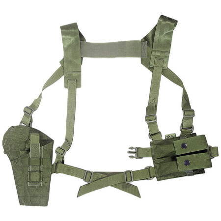 img-Flyye Tactical Shoulder Holster Panel MOLLE System Airsoft Security Ranger Green