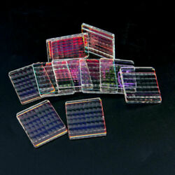 10PC Defective Optical Glass Scaly Prisma Science Research Prisms Fly's-eye Lens