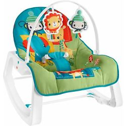 Kyпить Fisher-Price Infant-to-Toddler Rocker - Colorful Jungle, Baby Rocking Chair with на еВаy.соm